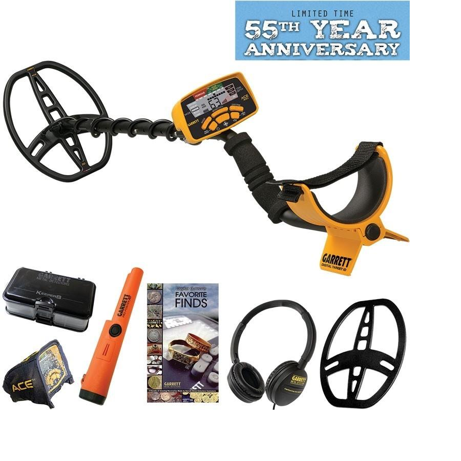 Garrett Ace400i metal detector 55years anniversary pack