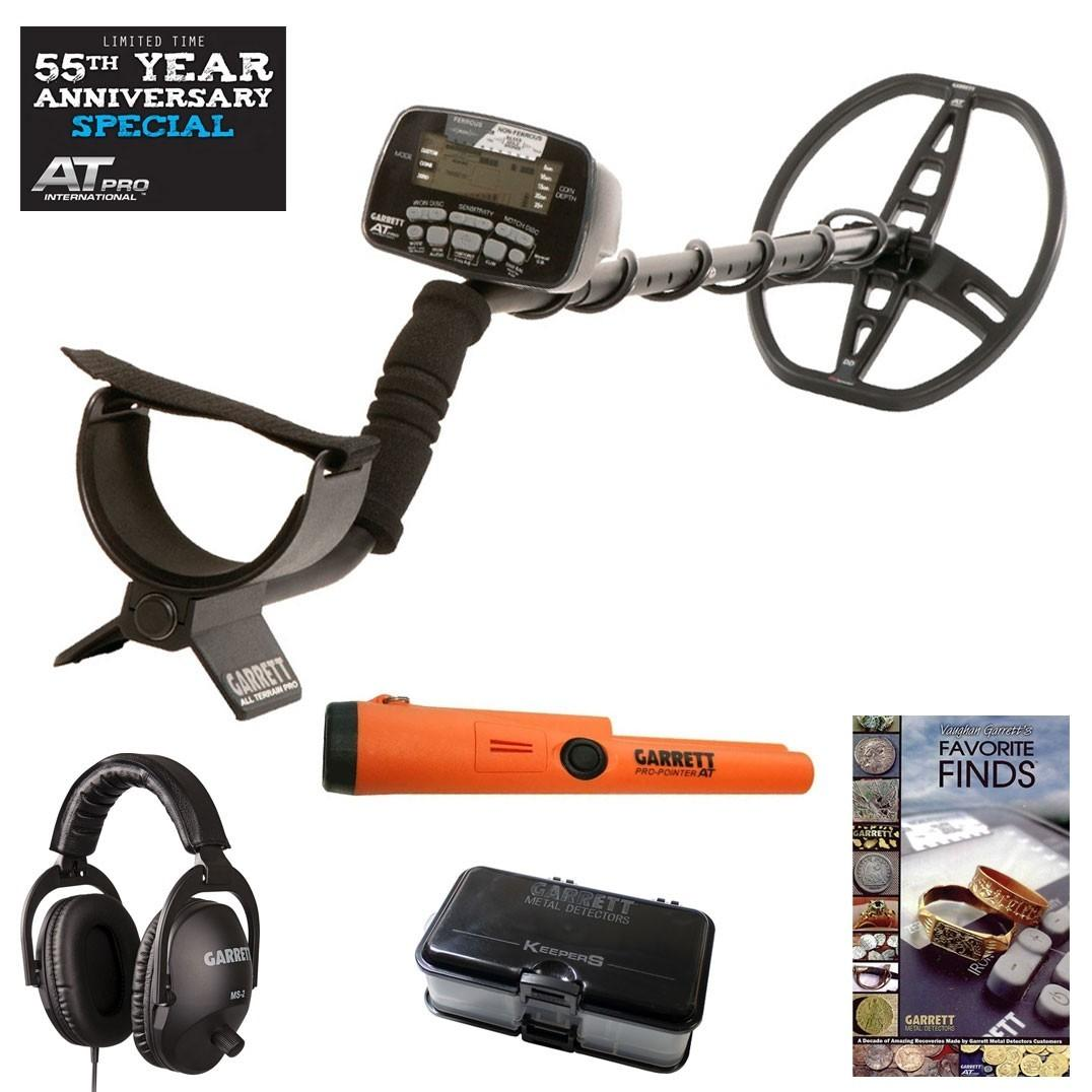 Garrett AT pro metal detector 55 years anniversary pack