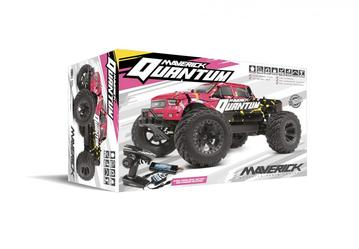Maverick MT 1/10 4WD Brushed rc Monster Truck complete pink