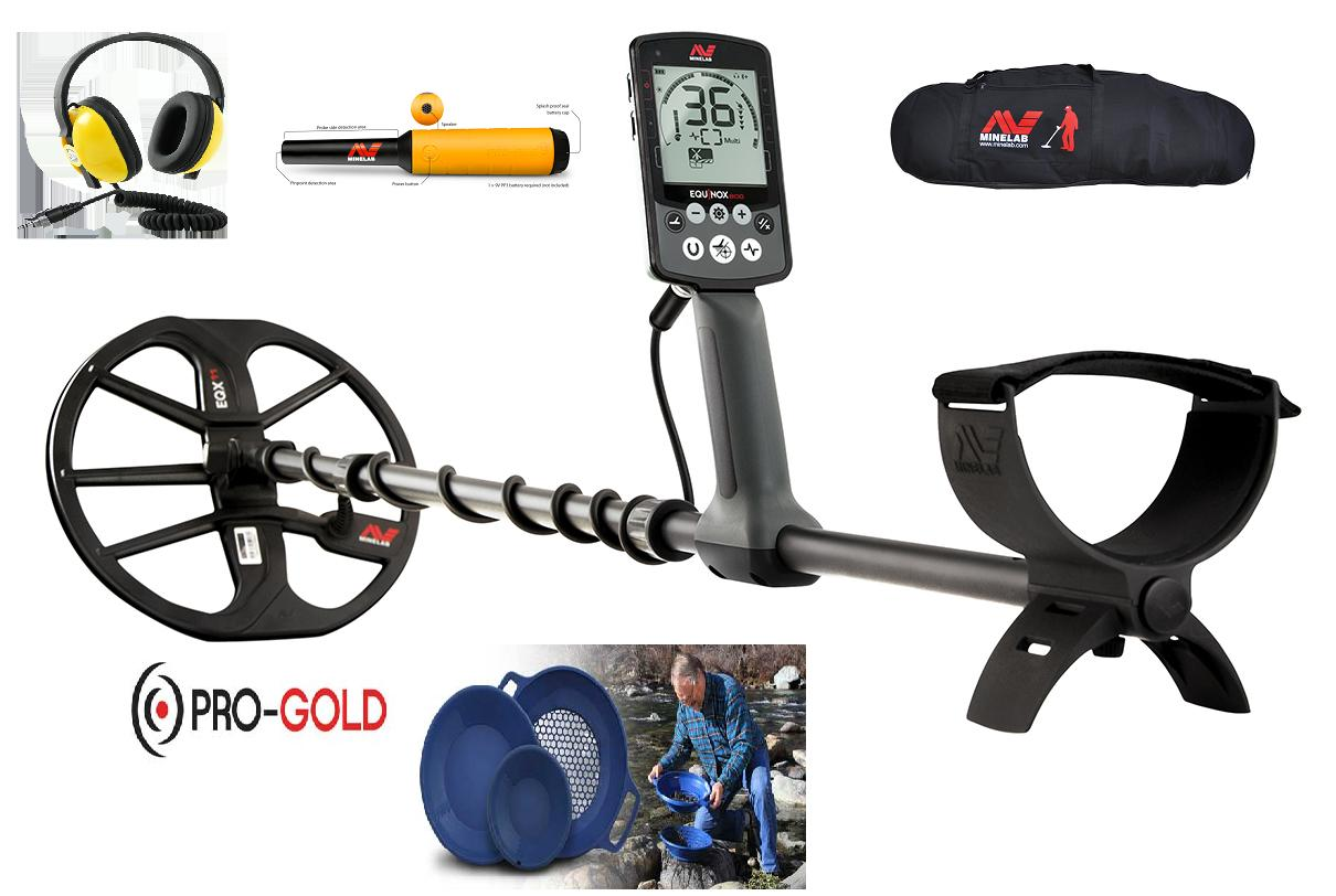 Minelab Equinox 800 metal detector Adventure pack