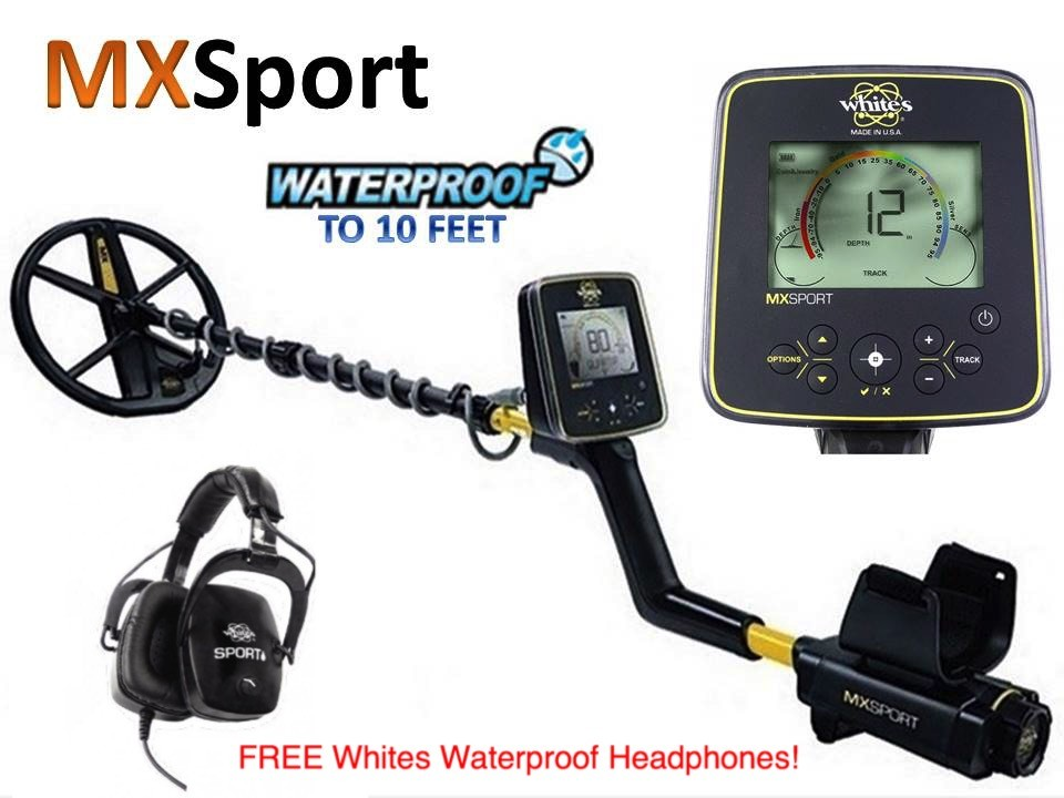 Whites MX Sport metal detector 3mtrs waterproof