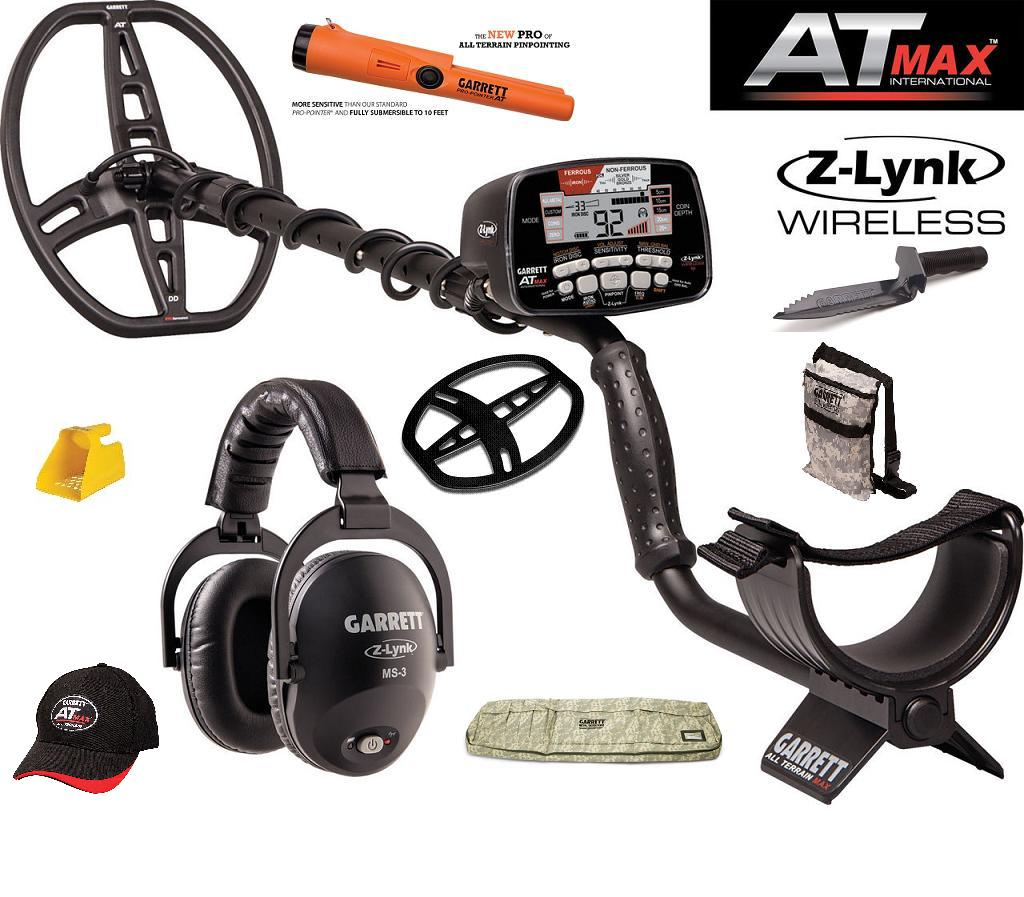 Garrett AT Max metal detector,adventure pack