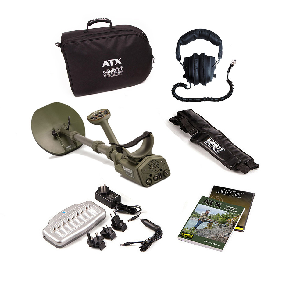 Garrett ATX PI metal detector+Propointer, Choose your coil.