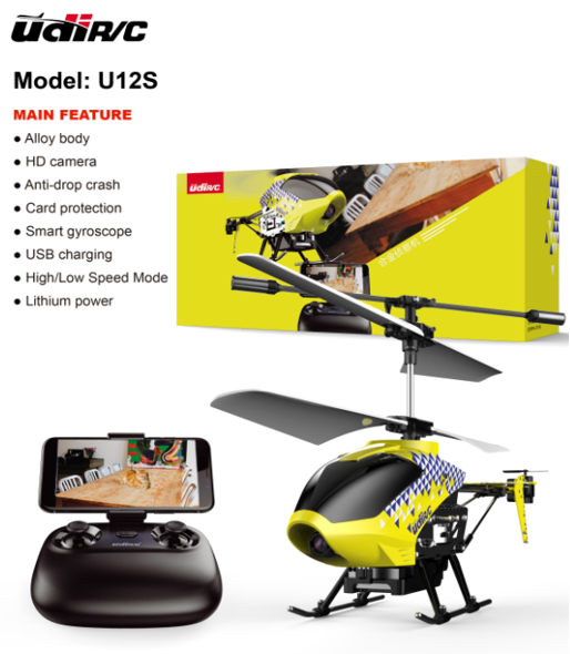 U12S 2.4Ghz WIFI & FPV helicopter with camera